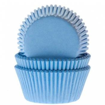60 Mini caissettes cupcakes bleu clair