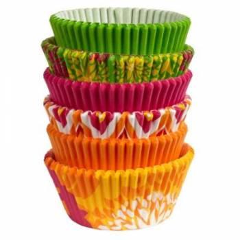 150 caissettes à cupcakes WILTON Neon Florals