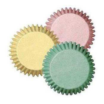 100 Mini caissettes Wilton pastel