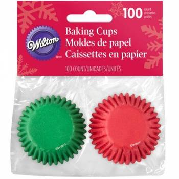 100 Mini caissettes cupcakes Noël Tradition