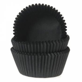 60 mini caissettes noires cupcakes