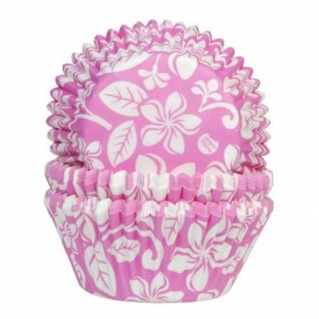 50 Caissettes cupcakes Aloha rose pour la décoration anniversaire de votre enfant.A utiliser avec 1 moule à muffinsDimensions : Ø5cm