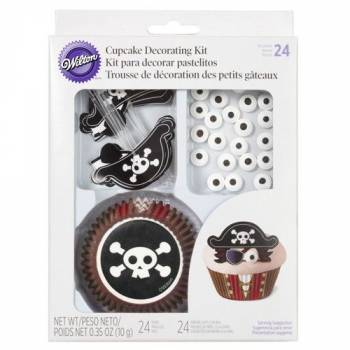 Kit décoration cupcake pirate Wilton