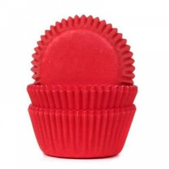 60 Mini caissettes cupcakes rouge
