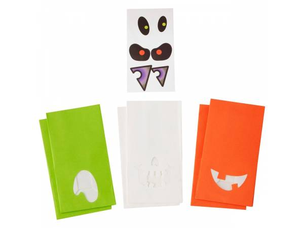 deco g teau halloween sacs en papier halloween avec stickers. Black Bedroom Furniture Sets. Home Design Ideas