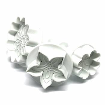 3 Emporte pièce plungers mix flowers