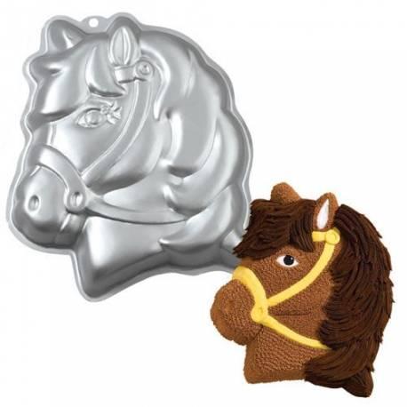 Moule à gâteau cheval en aluminium. Pour environ 10 gourmands ! Ø 35 cm