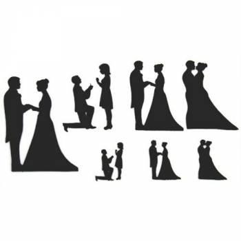 Emporte pièce Patchwork silhouette mariée