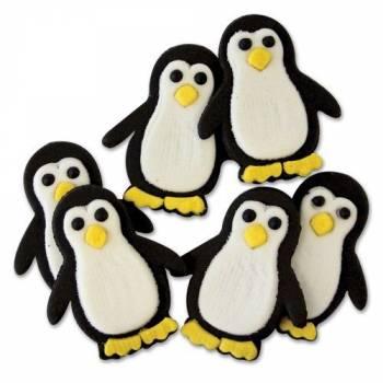 6 Décors en sucre Pingouins PME