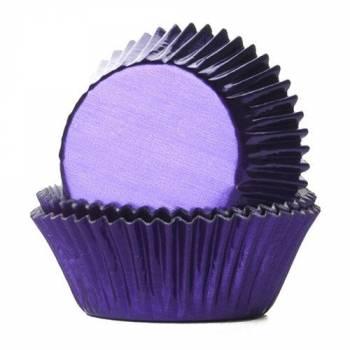 24 Caissettes cupcakes métal violette