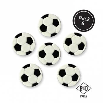 6 Ballons de foot en sucre