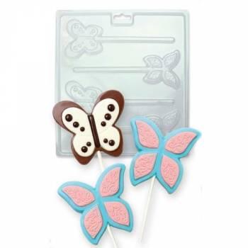 Moule à sucette chocolat PME papillons
