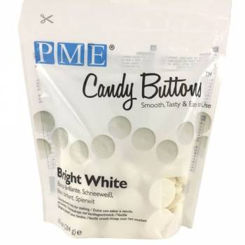 Candy buttons PME blanc ultra