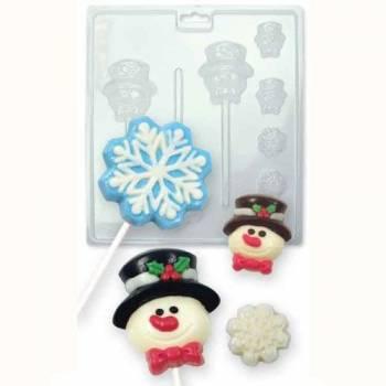 Moule à chocolat Bonhomme de neige