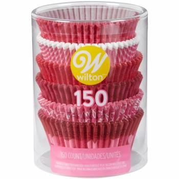 150 Caissettes assortis Wilton amour