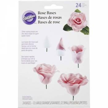 Assortiment 24 Bases de roses Wilton