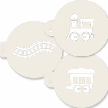 3 Pochoirs à gâteaux Funcakes Train
