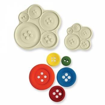 Set 2 Moules à modelage PME boutons