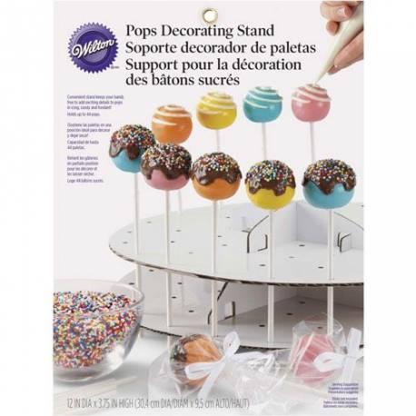 Présentoir à cake pops en carton blanc Peut contenir 44 cake pops Cela vous permet de maintenir vos cakes pops durant la décoration pour...