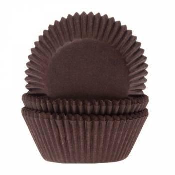 60 Mini caissettes cupcakes brunes