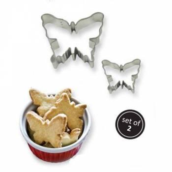 Set 2 emporte pièces papillons