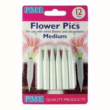12 Pics medium pour fleurs PME