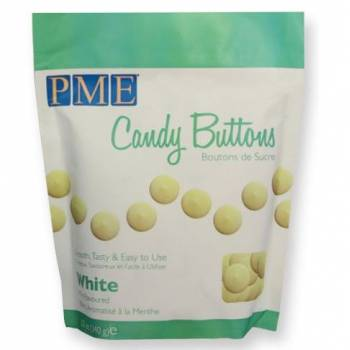 Candy buttons PME blanc vanille