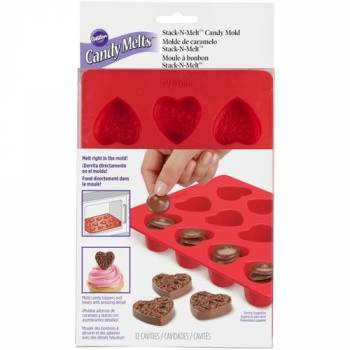 Moule silicone à Candy melts coeur Wilton