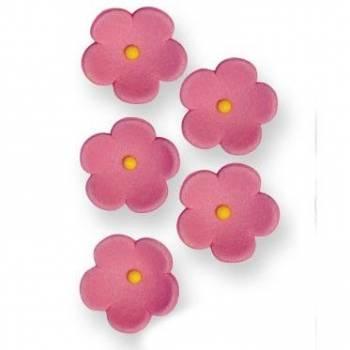 30 Fleurs en sucre rose Ø 2cm
