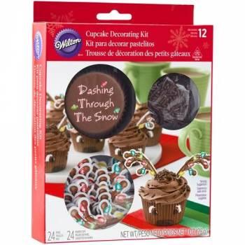 Kit déco cupcakes renne de Noël Wilton