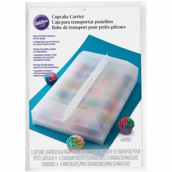 Boîte à 24 cupcakes translucide Wilton