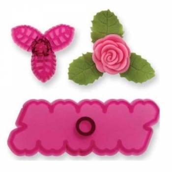 Kit 2 emporte pièces Rose avec feuilles