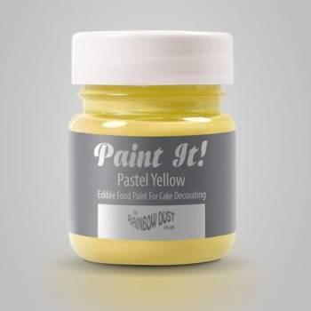 Peinture alimentaire Paint it jaune pastel