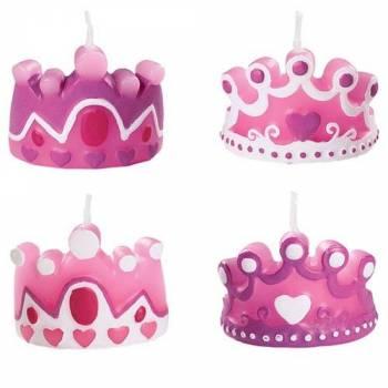 Bougies couronnes princesse pour gâteau