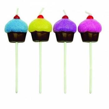Bougies à pics Cupcake