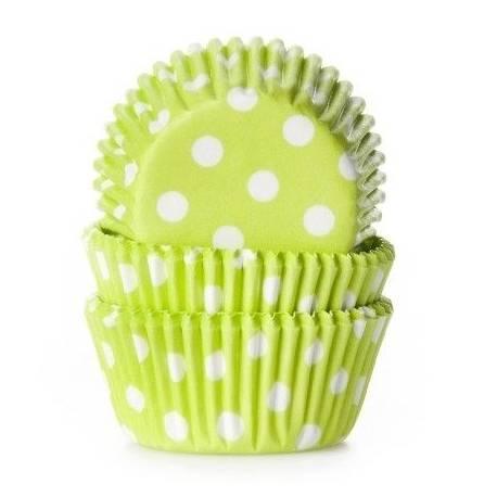 60 mini caissettes à cupcakes unies vert à poisØ 3.5cm x 2.25 cm de haut Les caissettes sont prévues pour la cuisson Disposez les...