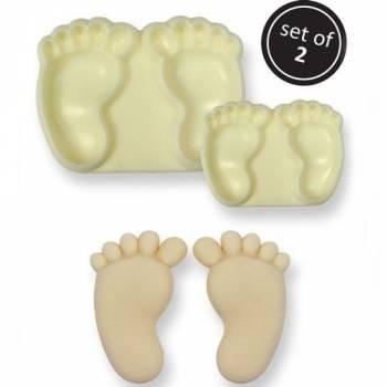 Set 2 emporte pièces modelant pieds bébé