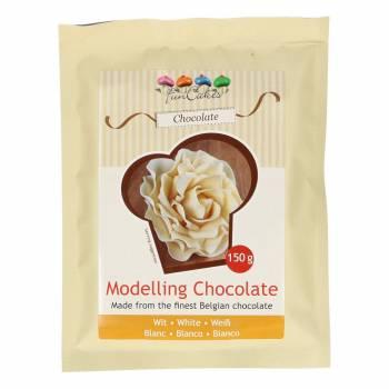 Pâte à modelage chocolat blanc 150 gr