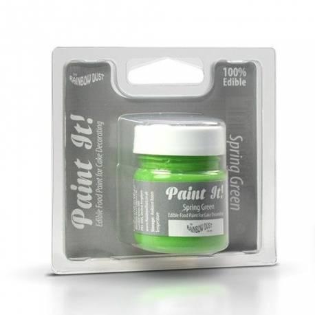 Pot de peinture alimentaire Paint it vert printemps de la marque Rainbow dust Pot de 25 ml Facile à utiliser, peinture opaque pour la...