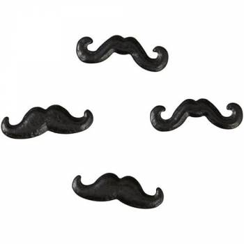 Mini candy moustache Wilton