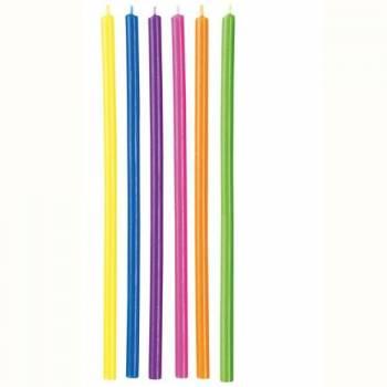 12 bougies longues multicolores Wilton