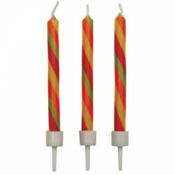 10 bougies candy stripes PME