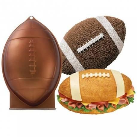 Faites un magnifique ballon de rugby en 3D avec ce moule à gâteau Wilton ! En aluminium. Dimension: environ 30 x 20 x 7,5 cm.