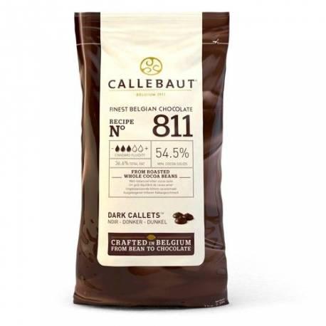 Paquet de 1 KG de galets de chocolat noir à fondre pour réaliser toutes vos recettes à base de chocolat !  Certifié casher