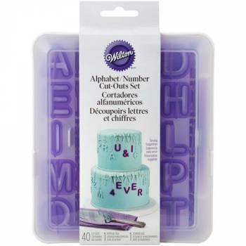 Kit emporte pièce Alphabet et chiffre Wilton