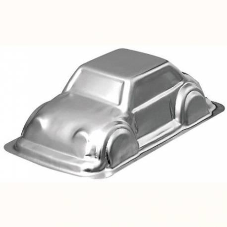 Moule à gâteau voiture en aluminium qui vous permettra de réaliser un véritable gâteau en 3D Permet de faire un gâteau voiture pour 10...