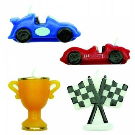 4BougiesthèmeRacing Cars Dimensions : 4.5 cm