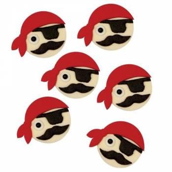 Lot 6 Têtes de Pirate en sucre