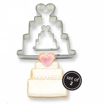 Kit 2 emporte pièces Wedding cake