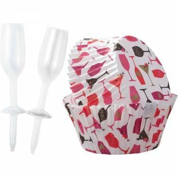 Kit caissette + deco cupcakes Champagne love